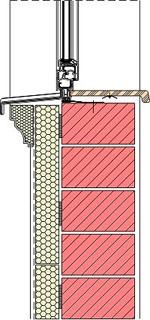 Homlokzati fal-ablak részlete parapetnél