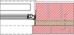 Homlokzati fal - ablak csatlakozásának vízszintes metszete