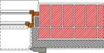 Porotherm áthidaló és monolit vb. koszorú részlete
